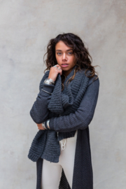 Maeve Knitted Scarf Stone Grey