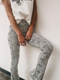 Soft Flared Dots White/Black