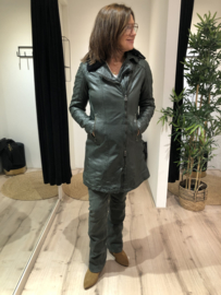 Leather Parka GGscylla Forest Green