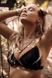 Roses  Lace Bralette Black