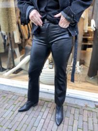 Cropped Flared Leatherlook P0FK-HA4000 Nero