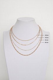 Stud Chain Necklace Gold (45cm)