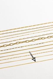 Long Curb Necklace Gold (55cm)