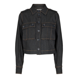 Ibbie Denim Jacket Black