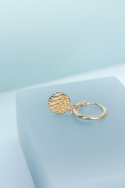 Waves Coin Earring Gold