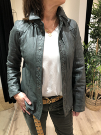 Leather Shirt GGshirt Olive