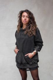 Passion Hoodie Washed Black (UNISEX)