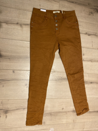 JWLY Button Broek 5154-45 Cognac