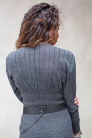 Loïs Knitted Top Stone Grey