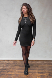 Isabel Knitted Dress Black