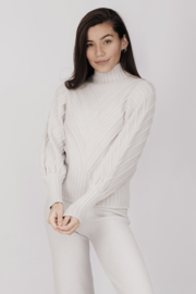 Cable Sweater Col K286