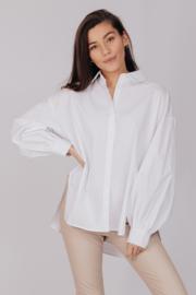 Oversized Cotton Blouse White 8516