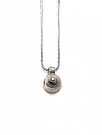 Silver Dot Necklace -65CM Silver