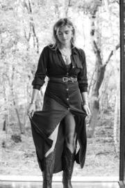 Evita Dress/Cardigan Black
