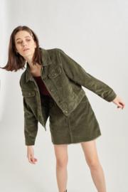 Corduroy Jacket Olive 90286