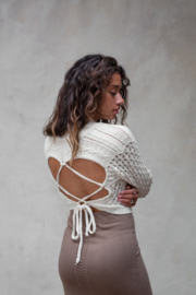 Poets Knitted Top Off White
