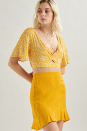 70501a Ruffle Skirt Yellow