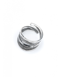 Double Carved RingSilver