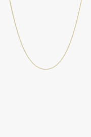 Curb Chain Necklace Gold 45 cm
