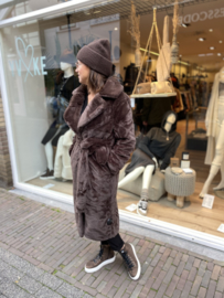 Sofia Faux Fur Coat Brown