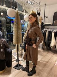 Dress Dantionea Brown Leather