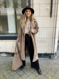 Teddy Coat Walnut Oversized