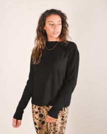 Kyra Pocket Knit Black