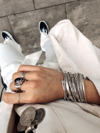 Silver bracelet Karma