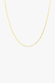 Round Gold Necklace 40 cm
