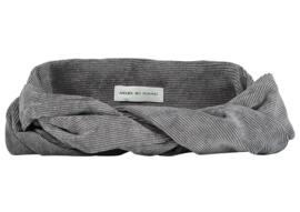 Grey Corduroy Headband - Bandeau Jules