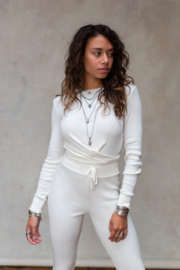 Fierce Knitted Top Off White