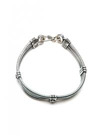 Agnes Double Bracelet Silver