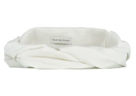 White Corduroy Headband - Bandeau Zara