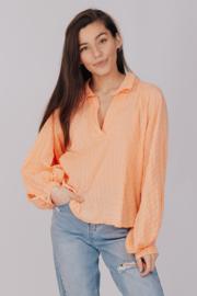 Cotton Blouse Ballon Fluo-Orange E878202