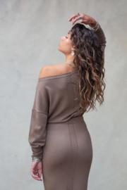 Bella Sweater Ash Brown
