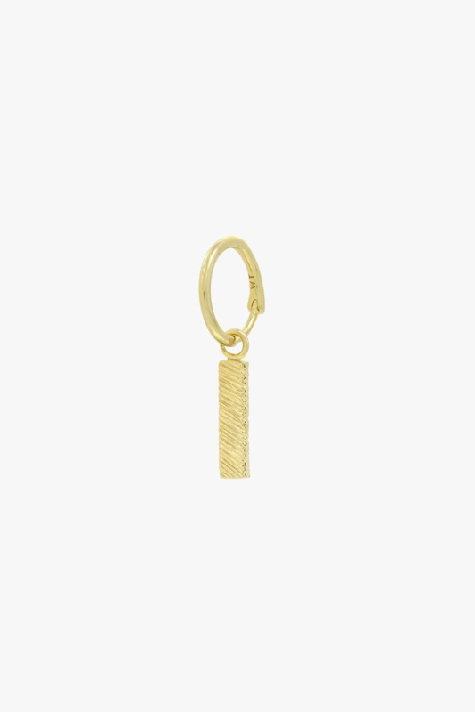 Texture Bar Earring Gold