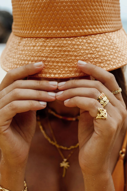 Palm Leafs RIng Gold