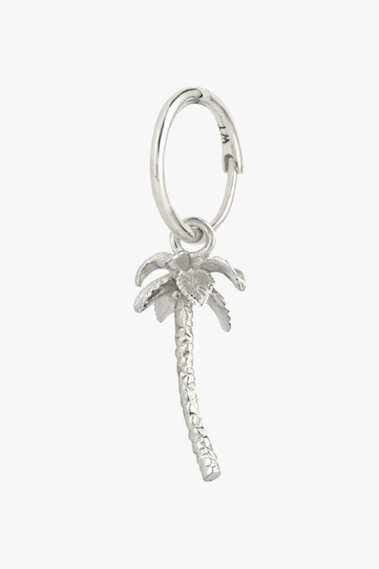 Palm Tree Earring Silver