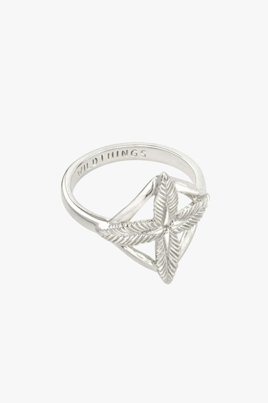 Palm Leafs Ring Silver