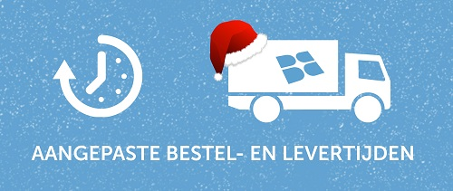 Aangepaste levertijden tijdens de feestdagen