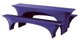 Biertisch Hussen Satz Fortune Dena Stretch, Farbe Dunkel Blau 133