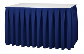 Tisch Skirting Boxpleat Dena, Farbe Marine Blau 10