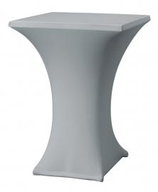 Stehtisch husse Rumba 80 x 80 cm Dena Stretch, Farbe Grau 125