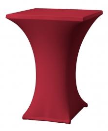 Stehtisch husse Rumba 80 x 80 cm Dena Stretch, Farbe Bordeaux 129