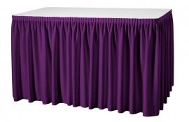 Tischskirtings Plissé Dena, Farbe Violett 08