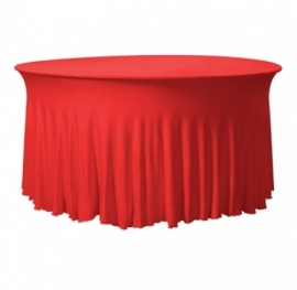 Tischhusse Grandeur Rund Stretch Dena Rot 130