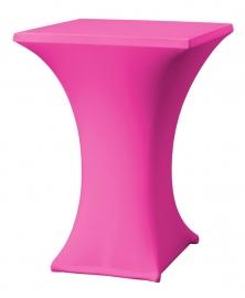 Stehtisch husse Rumba 80 x 80 cm Dena Stretch, Farbe Pink 128