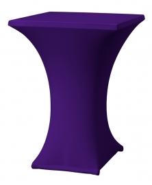 Stehtisch husse Rumba 80 x 80 cm Dena Stretch, Farbe Violett 136