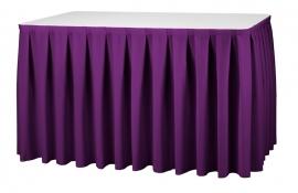 Tisch Skirting Boxpleat Dena, Farbe Violett 08