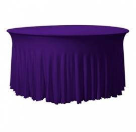 Tischhusse Grandeur Rund Stretch Dena Violett 136